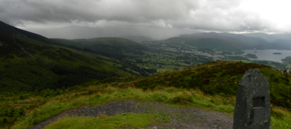Keswick and Derwent Water from Dodd Summit