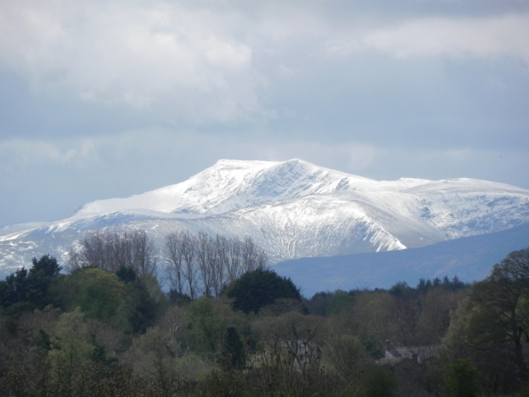 Cumbrian Mountains With Snow Cover